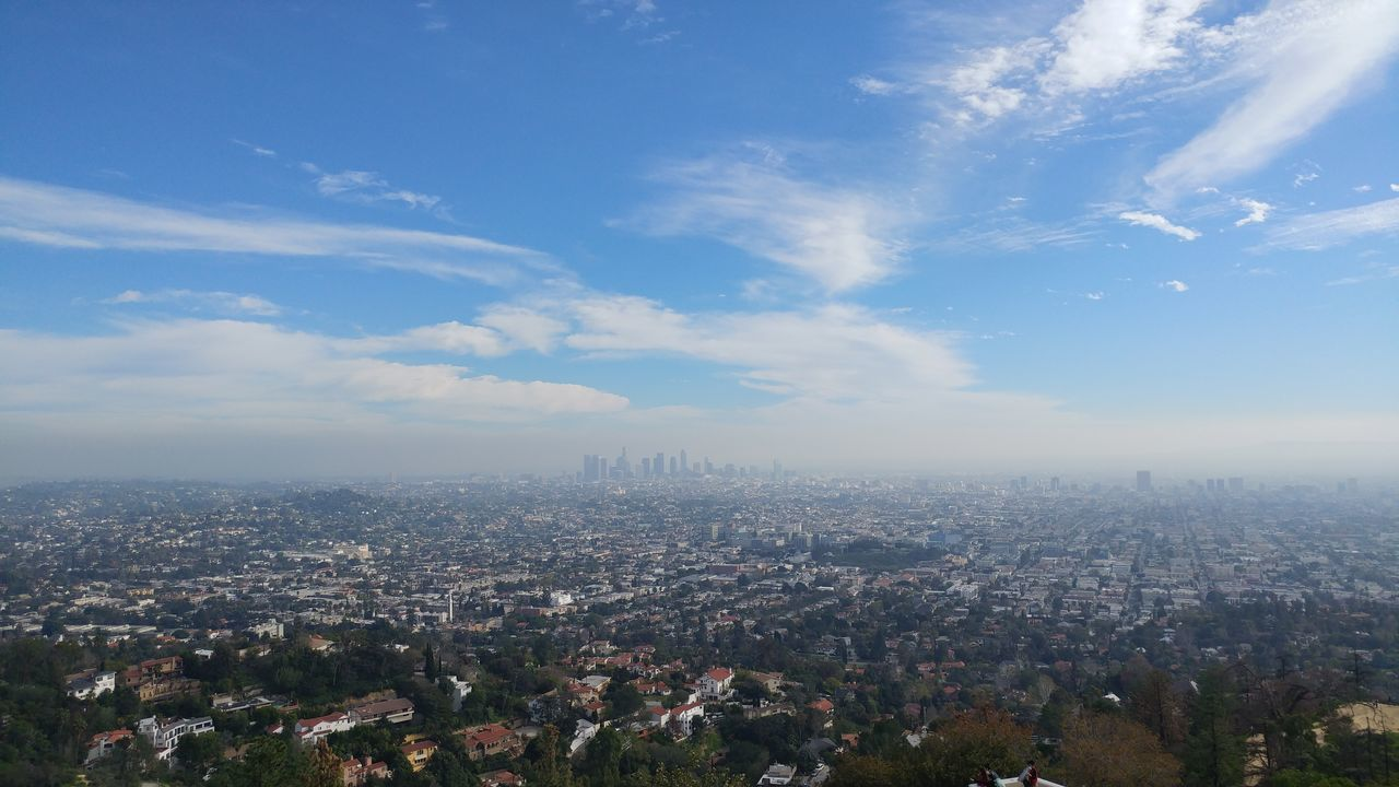 Sky view from Griffith observatory, Los Angeles, California Los Angeles, California Sky City Cityscape Business Finance And Industry Nature Cloud - Sky Growth Architecture Urban Skyline Outdoors Skyscraper No People Day Beauty In Nature Griffith Observatory Lalaland