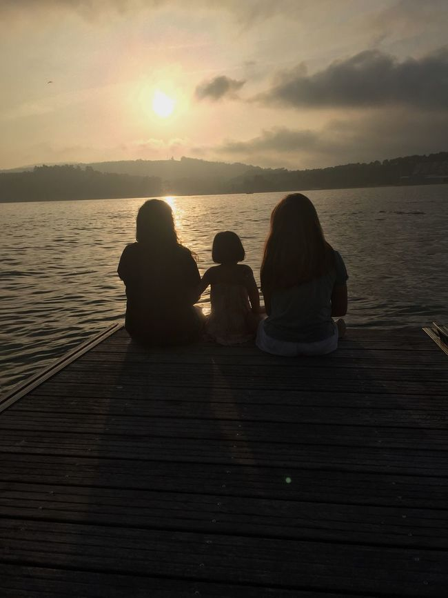 Cousins  Water Pier Beauty In Nature Sunset Peace Girls First Eyeem Photo Nice Sea