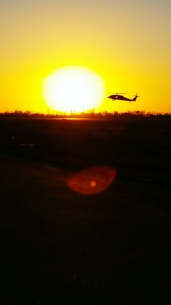 Ending the day... Feel The Journey Sunset Helicopter Military