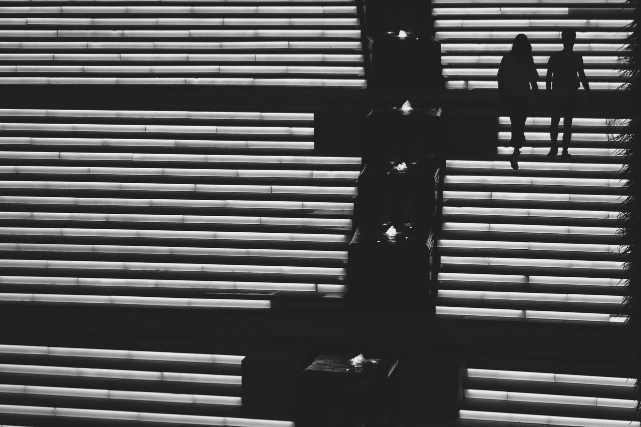 Architecture Built Structure Day Indoors  Mono Monochrome No People Pattern Shadow Stairs