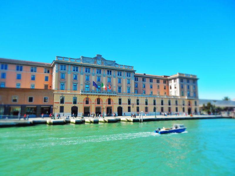 Venezia Venexia Venice Ferrovia Grand Canal Blue Sky