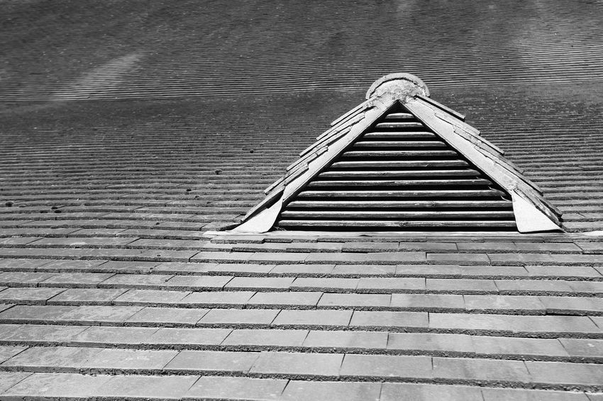 Close-up of historic building in Bromsgrove, Worcestershire, England. Architecture Bromsgrove Building Exterior Close-up Day Historical Building Monochrome No People Outdoors Roof Tiles Shapes And Patterns
