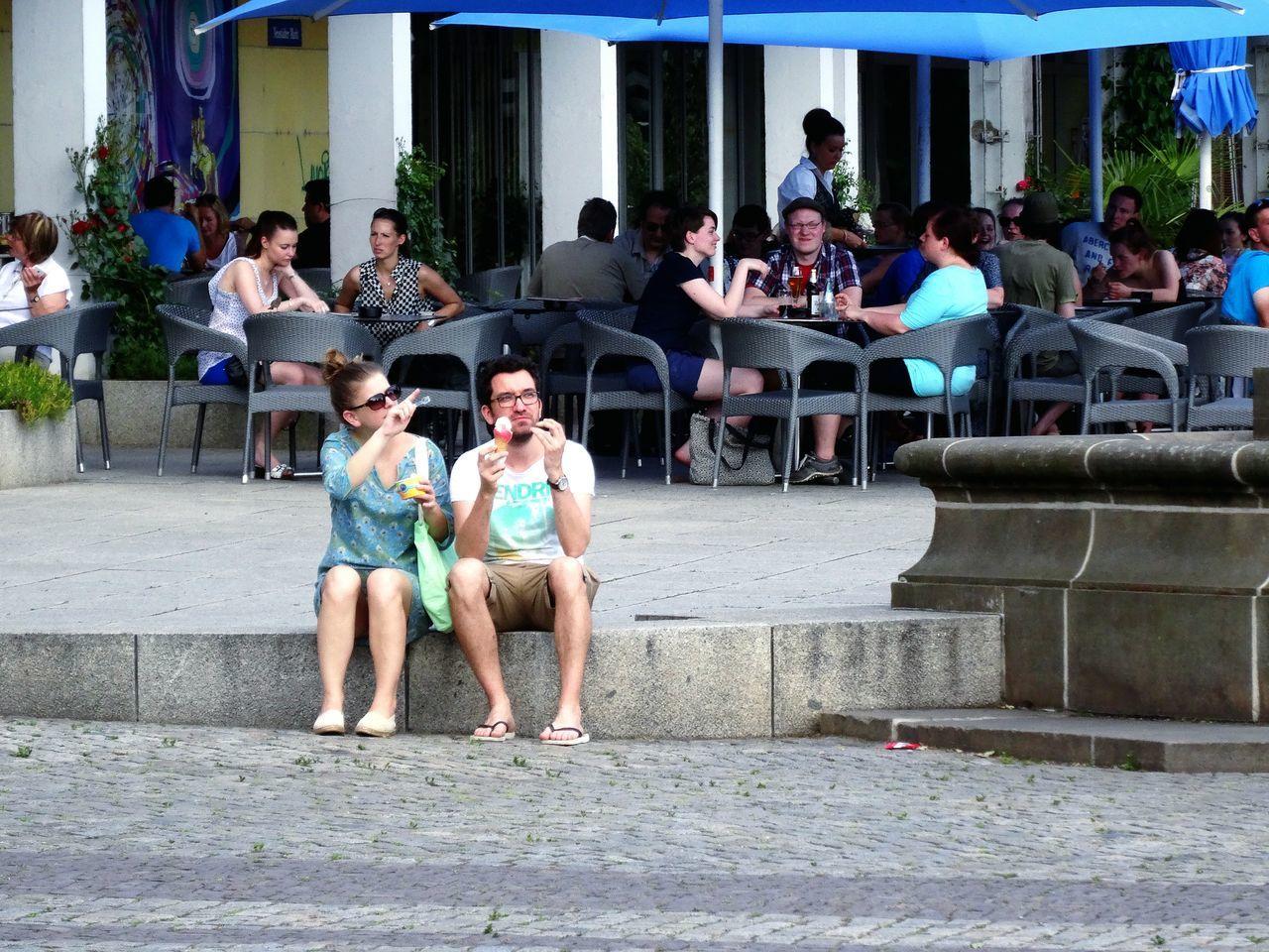 Do you see that? Relaxing Enjoying The Sun Ice Cream EEA3 - Dresden EEA3 Eye4photography  Streetphotography The Street Photographer - 2015 EyeEm Awards Summer Views TwentySomething