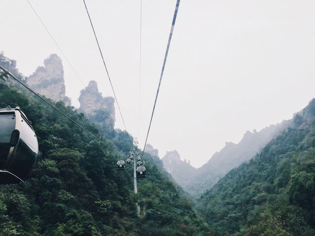 Traveling Mountain Scenics Nature Overhead Cable Car Cable Landscape China Travel Destinations Avatar Inspirations