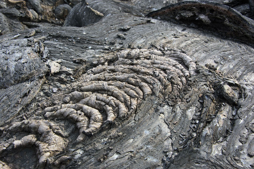 Waves of the clinker (frozen lava) Ancient Close-up Day Far East Fossil Geology Kamchatka Lava Natural Parkland Nature No People Outdoors Rock - Object Russia Volcano