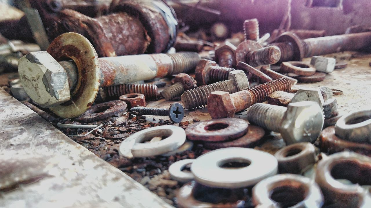 Industrial Photography Nuts And Bolts Extra Parts If We Could Talk Eyeemphoto