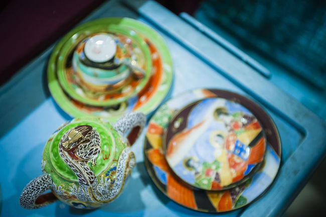 Antique Art And Craft Ceramics Clay Work Close-up Collections Colorful Colourful Decor Detail Flea Markets Fleamarket Focus On Foreground Household Objects Objects Old Rare Items Retro Selective Focus Still Life
