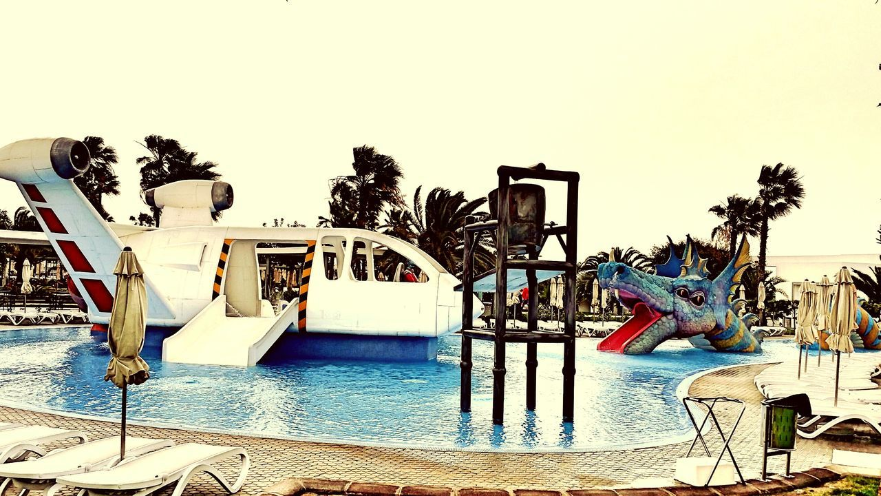 Swiming Pool Dragon Aircraft Play Area Art las palmas de gran canaria