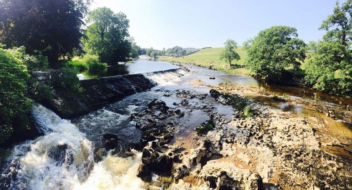 Enjoying The Sun Waterfall Linton Yorkshire Relaxing Green Water Summer IPhoneography EyeEm Nature Lover