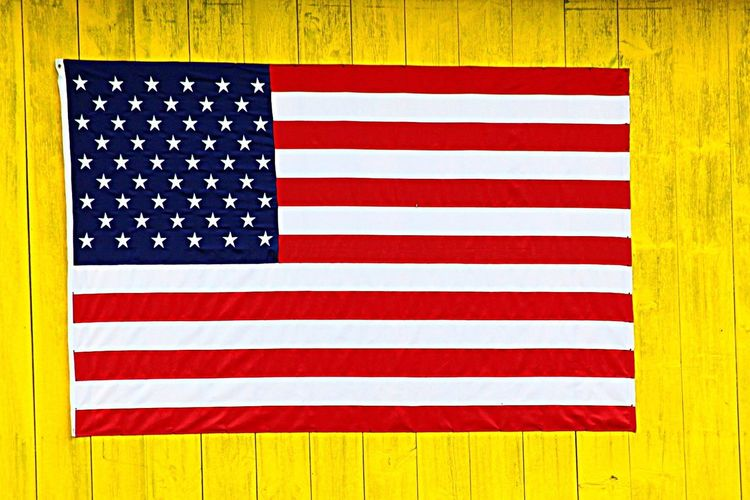 Flag Striped Patriotism Multi Colored Pride No People Red Yellow Day Close-up Outdoors Stars And Stripes Sommergefühle EyeEmNewHere EyeEm Selects Vibrant Color This Flag Was On A Barn Painted Yellow!!