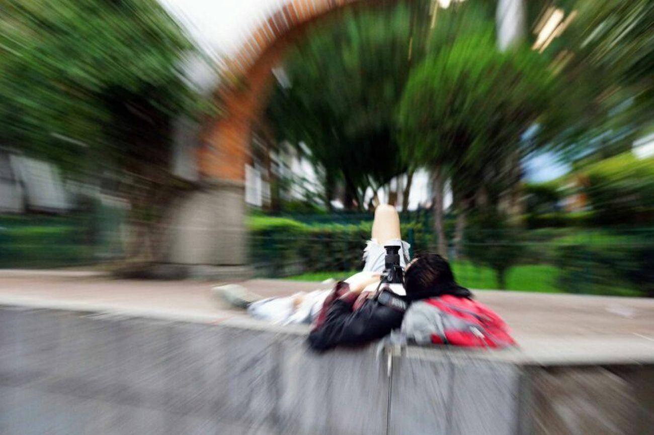 Durmiendo en el parque San Angel Mexico City Dev El Vago Alpha 200 Sony Vegan Boots