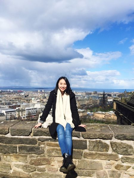 Edinburgh Castle Sunshine Sunny at the moment Unpredictable Weather Windy Raining in next second Solo Traveller City View  Just Chillin' Walking Wandering Scotland Check This Out Hello World That's Me Relaxing Holidays