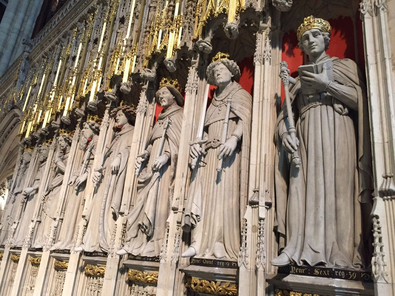 England's Kings.... Spirituality Religion Statue Place Of Worship Human Representation Sculpture Low Angle View Historical Building York Architecture Minster Façade Real People Architecture Day Outdoors