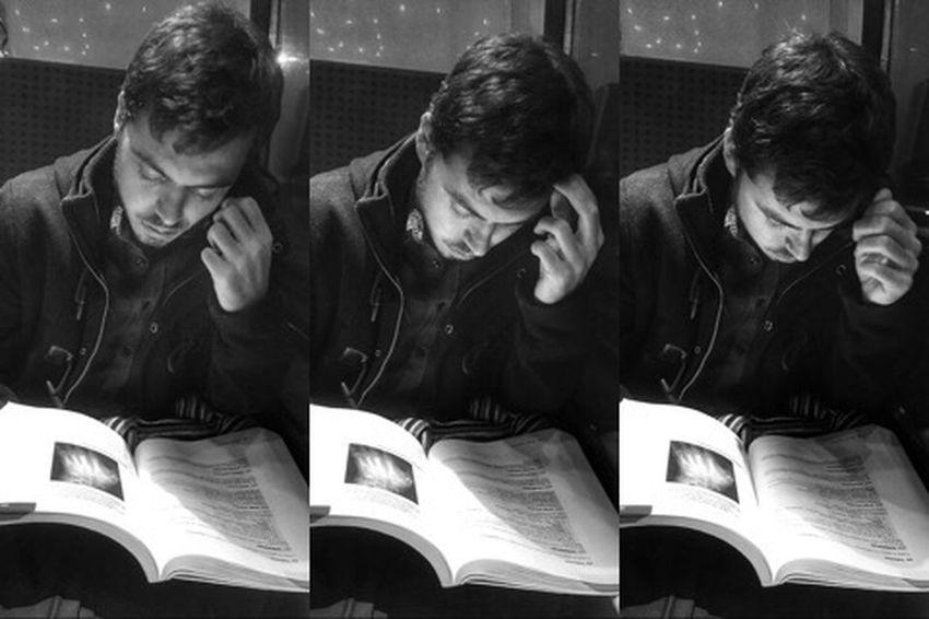 Triptyque d'une lecture ferroviaire Subway People Portrait Montage Photography Triptych Triptyque