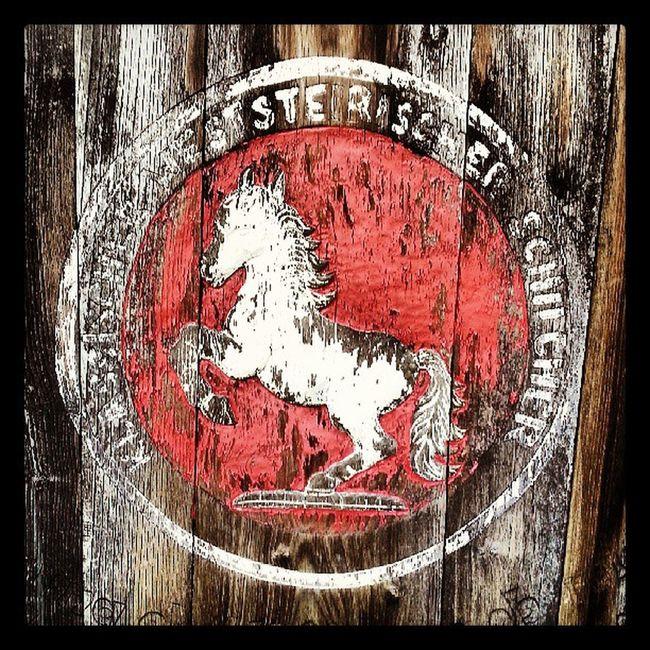 Old Barrel Imprint Schilcher styria austria horse