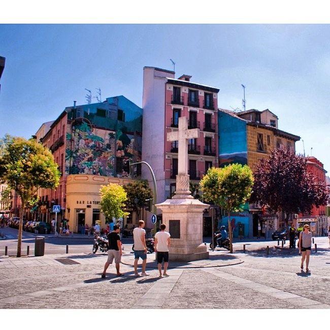 Cross Statue near Calletoledo Calle toledo. plaza mayor plazamayor plaza_mayor. Madrid Spain españa. Taken by my sonyalpha dslr a200. Taken in my 2010 trip تمثال صليب مدريد اسبانيا