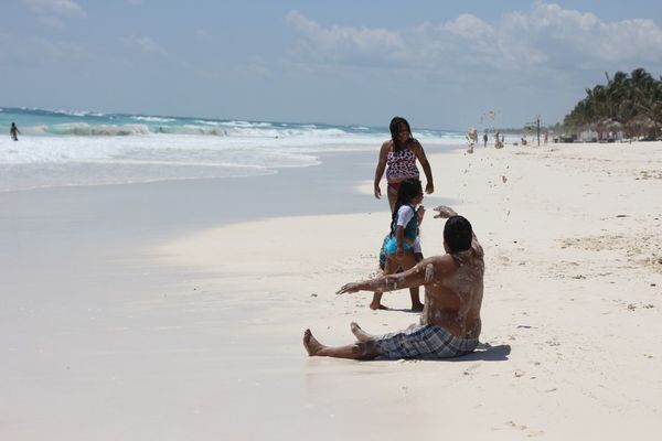 beach at tulum by Mayka Navarro