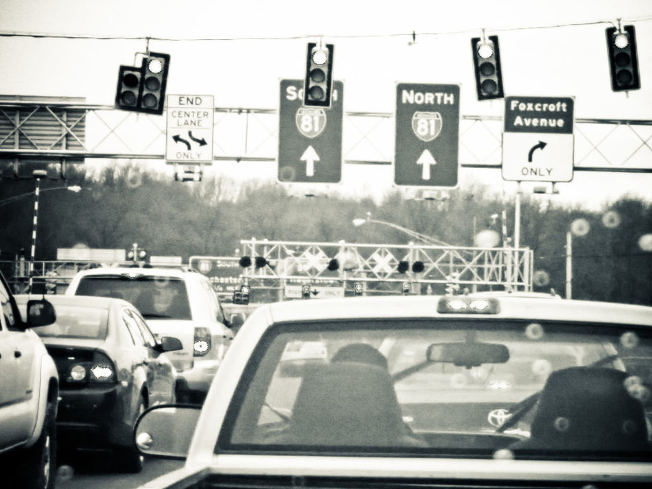 Martinsburg Rainy Day Stop Light Traffic Traffic Jam Traffic Lights