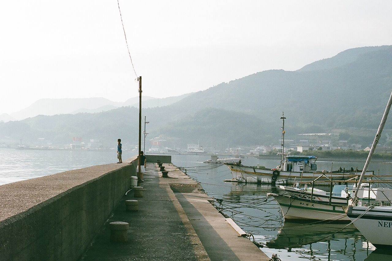 Film Photography Filmcamera 35mm Film NikonFM2 Nikon Japan Breakwater Summer Harbor Shodoshima Sea The Traveler - 2015 EyeEm Awards Minimalism