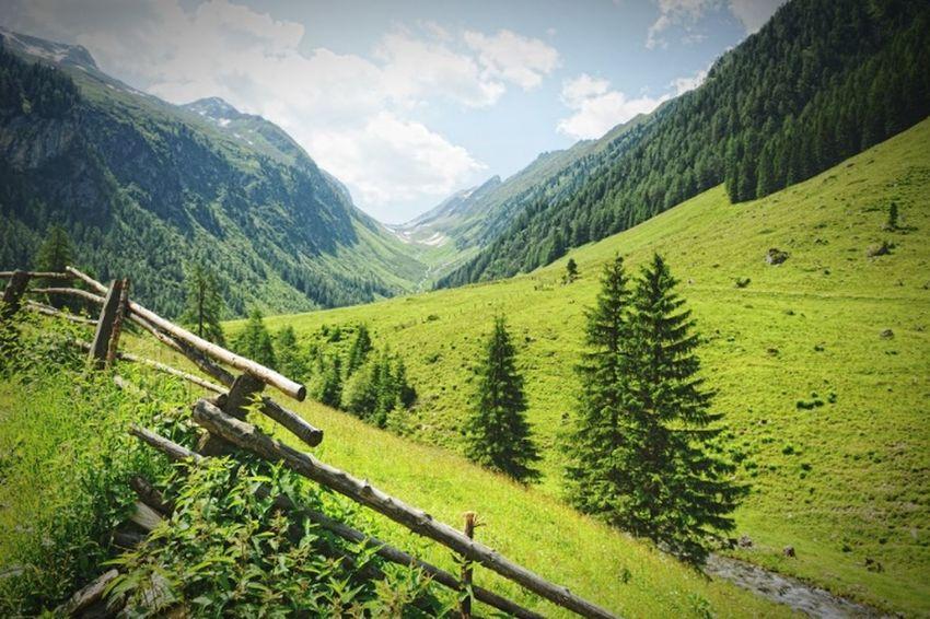 european alps landscape with hiking path. zillertal, tyrol, austria. Hiking Austria Austrian Alps Zillertal Tyrol Alpen
