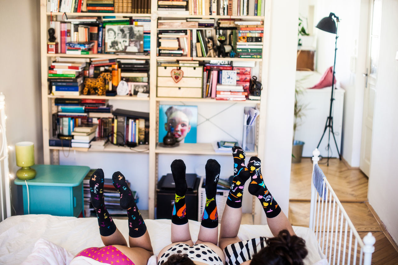 Bookshelf Colorful Colourful Colours Cute Day Friends Friendship Fun Girls Happysocks Home Interior Sleepover Sleepover With The Bestfriends Sleepoverparty Sock Socks Teenage Girls Teenager Teenagers