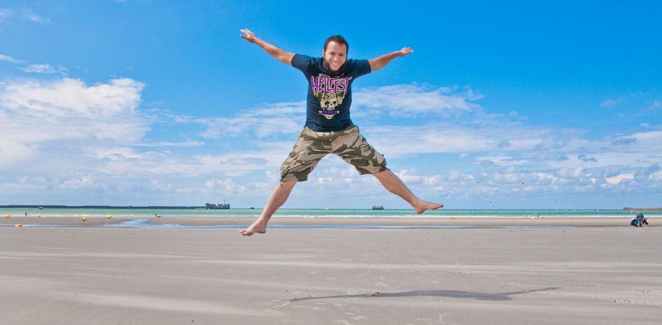 Beautiful stock photos of jump, Active, Barefoot, Blue, Calm