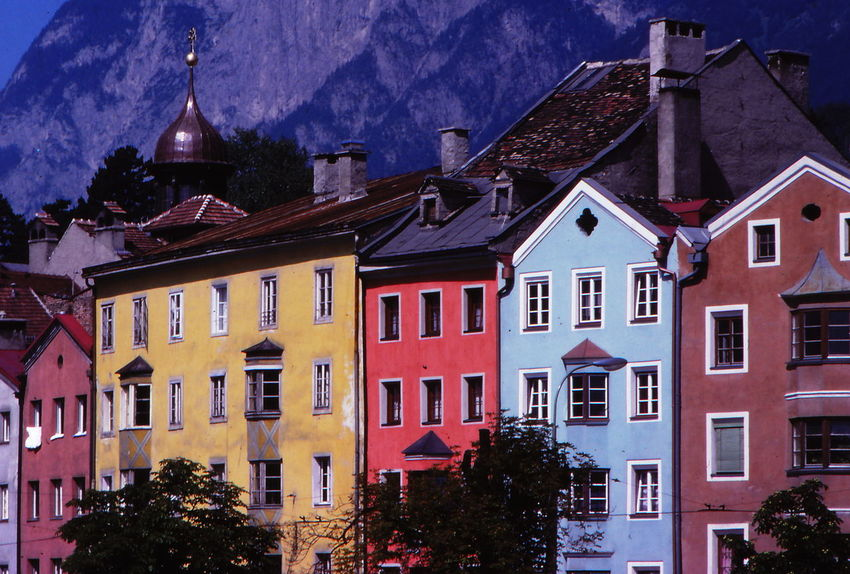 1977 Architecture Austria Building Exterior Built Structure City Day Full Frame Shot House Innsbruck No People Outdoors Roofs Trees Windows