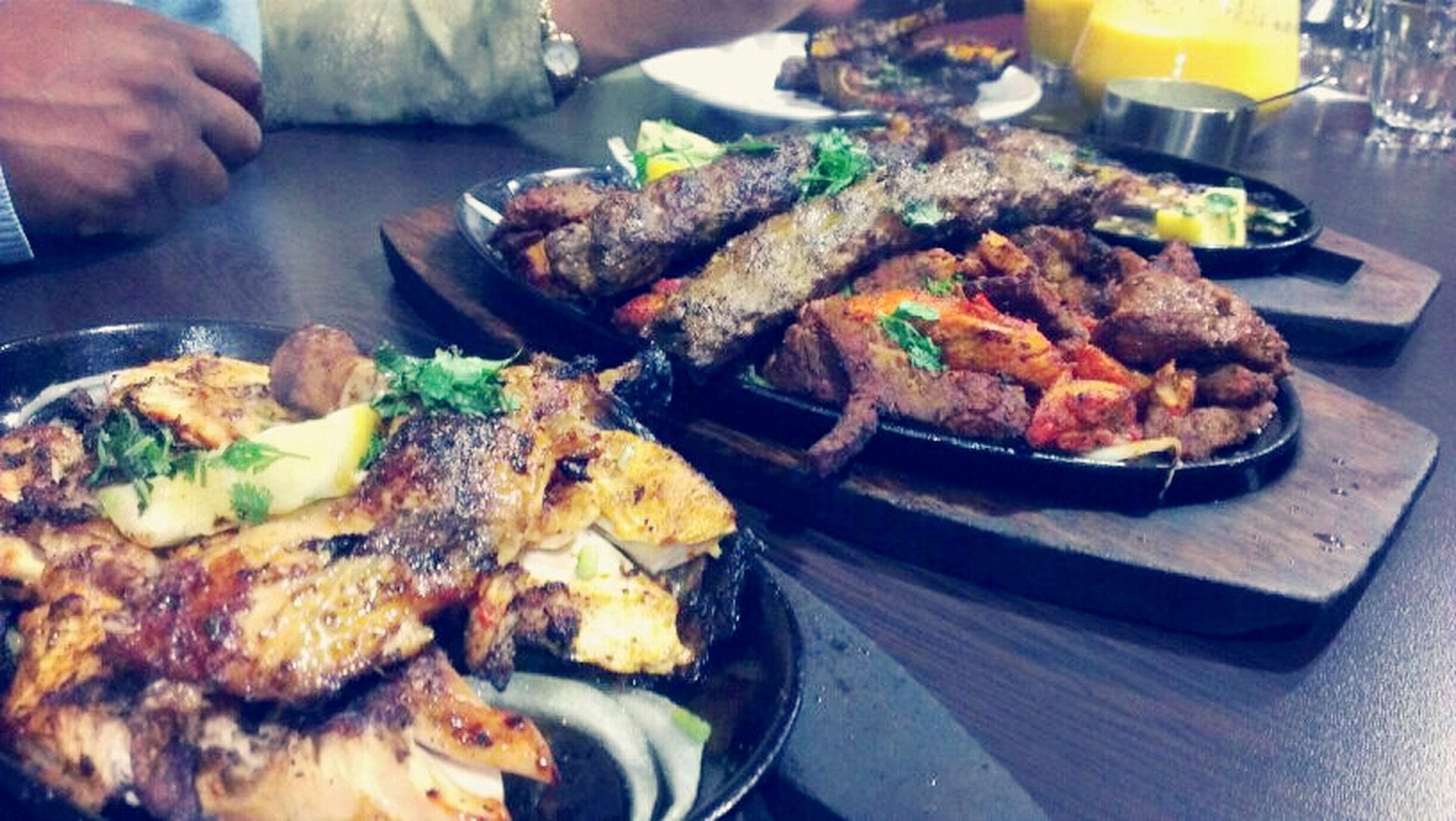 food and drink, food, freshness, meat, seafood, indoors, ready-to-eat, meal, healthy eating, grilled, close-up, chicken meat, fish, cooking, roasted, cooked, still life, fried, plate, preparation