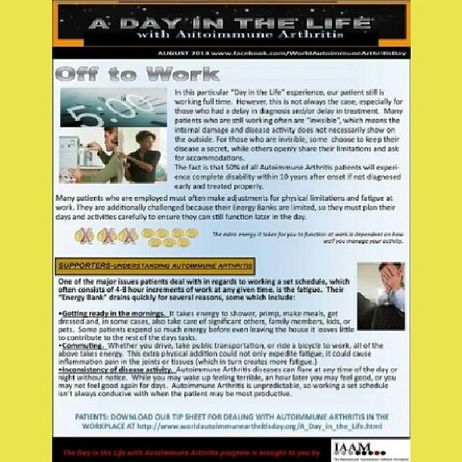 Autoimmune Arthritis Awareness Adayinthelife UnitedAdvocacy