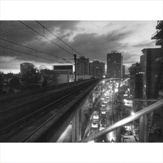 """B&W Challenge Day 5: """"The rail is the longest of all."""" Lrt2 Gilmore 5/5 Days are completing. Thank @dupaya08 for nominating me. I don't need to nominate. Thumb up!"""