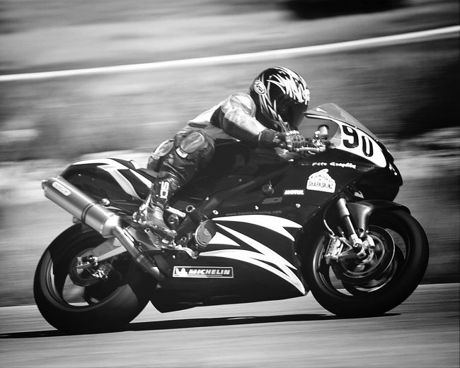 90 Motorcycle Motorbike Black And White Monochrome