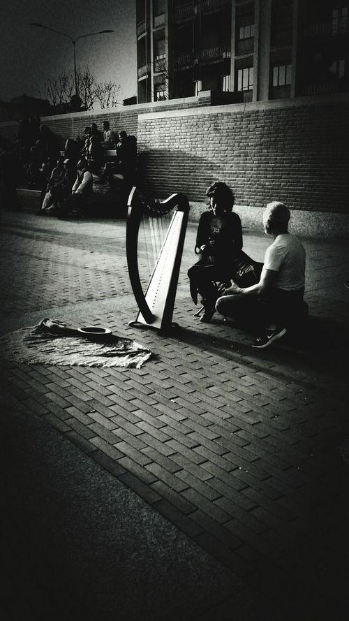 EyeEm Gallery Eye4photography  Darsena Blackandwhite Photography EyeEm Best Shots - Black + White Musician Arpa Harp