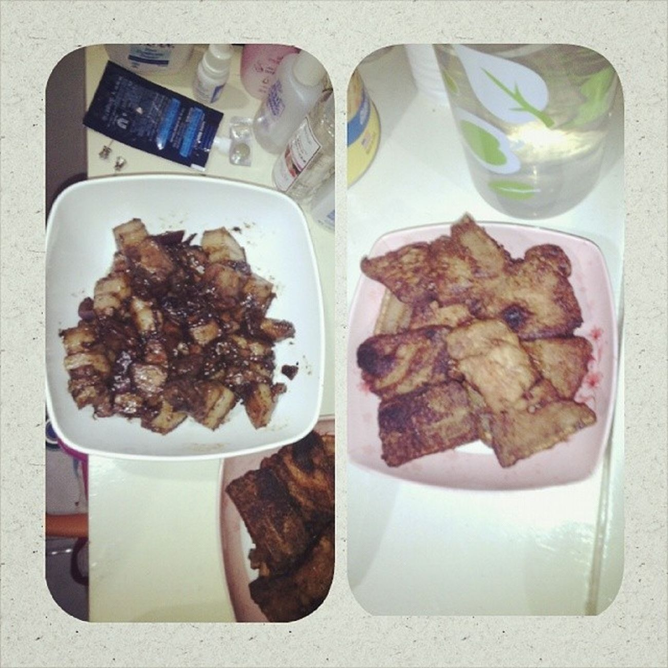DONE COOKING FOR DINNER 😄👍🐷🍴 Porkadobo DeepFriedPork PangpaHighblood Lol😹 Dinner Goodevening