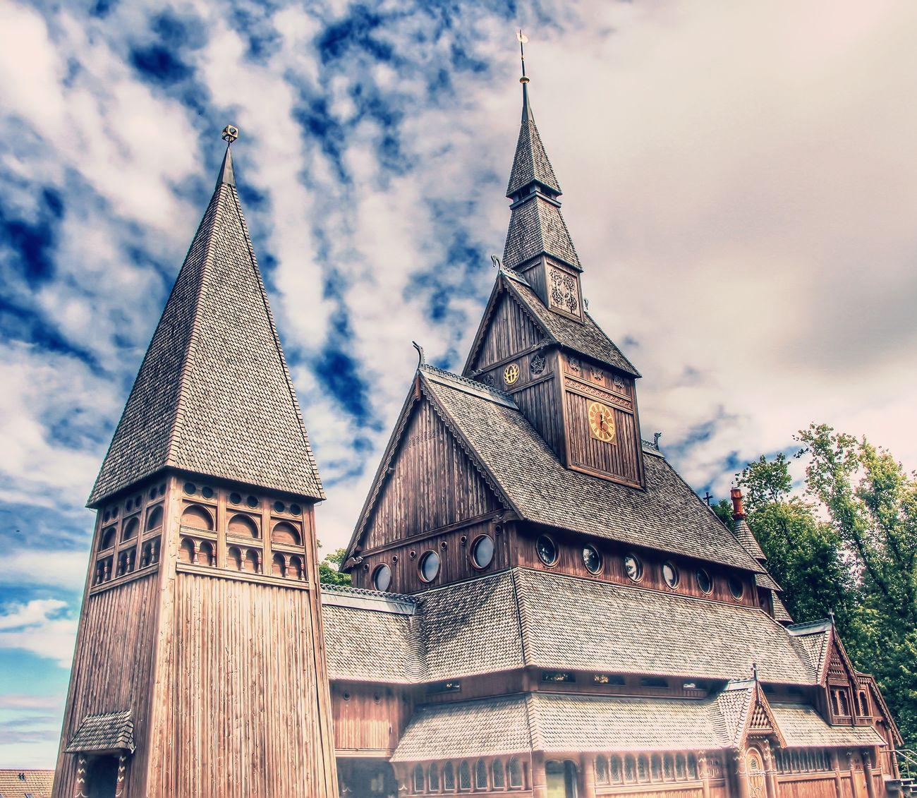 Woodenchurch GustavAdolfStaveChurch Hahnenklee Harz Harz Im Sommer GustavaldolfstabkircheHdrlovers Hdrphotography HDR Collection Hdr_pics