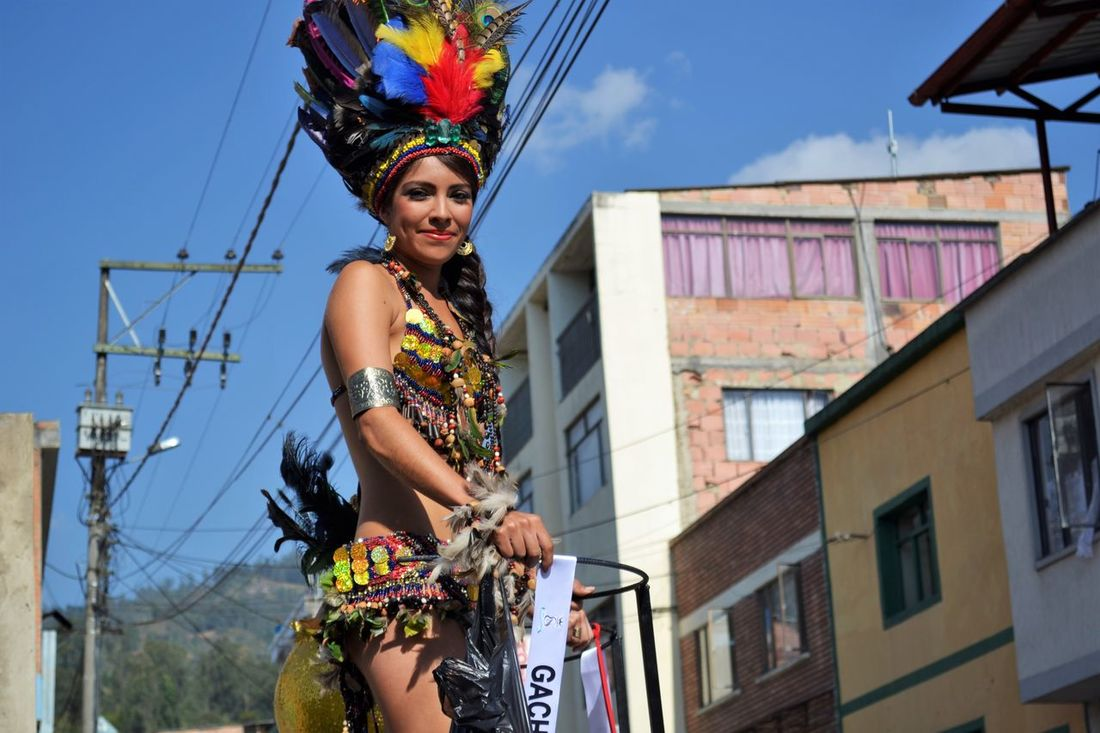 Colombian woman in beauty contest Beauty Contest Beuty Colombian Culture Contest Fair Front View Gachetá Lifestyles Miss Portrait Real People Standing Women Young Adult Young Women