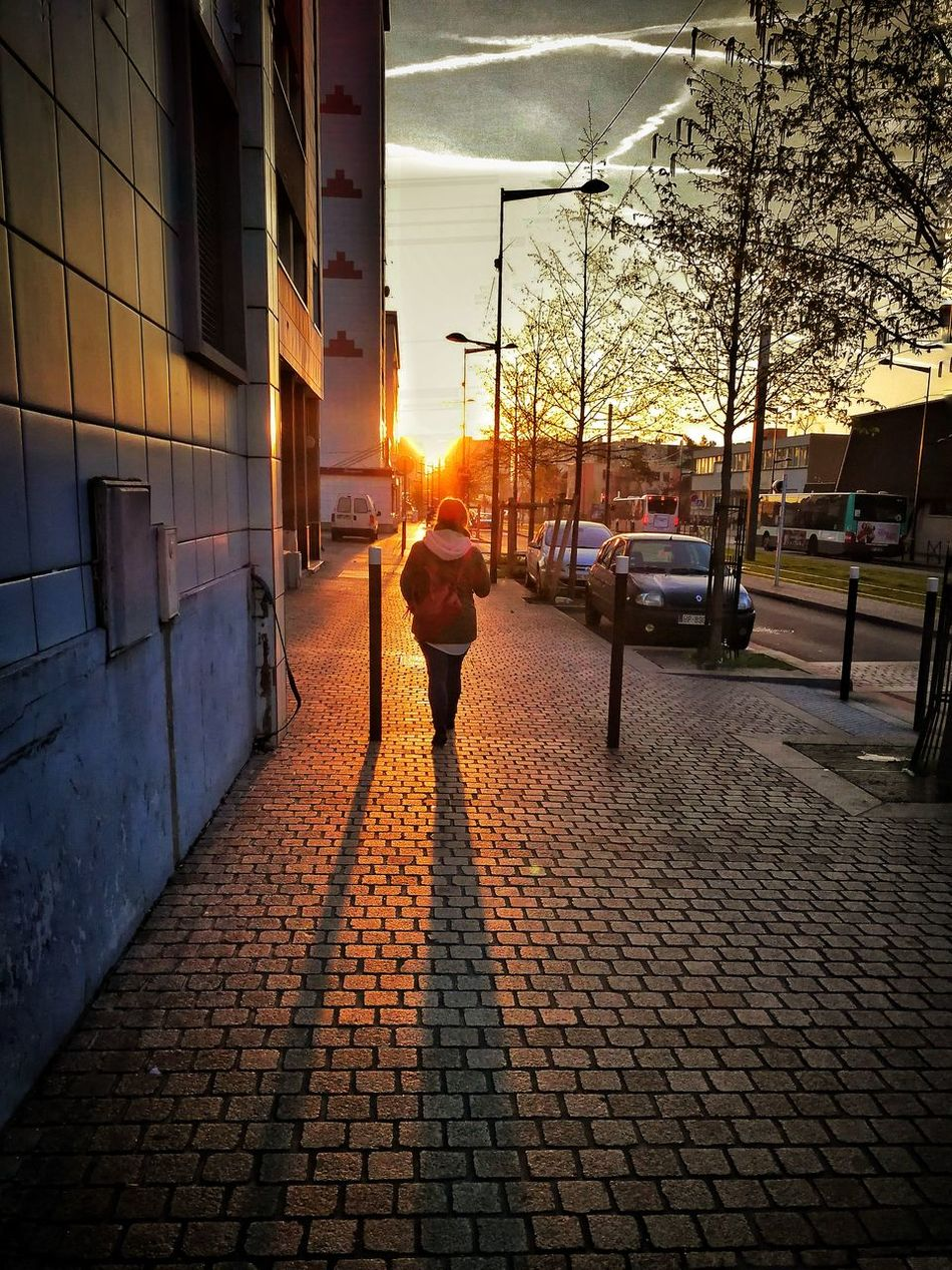 Walk on the street. Serenity Serene Outdoors Sunset Streetphotography Street Photography Travel Destinations Tranquil Scene Walking Around The City
