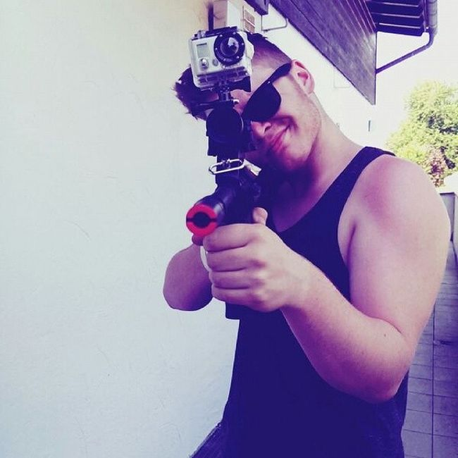 Mounted my GoPro on my Steyr Aug :'D Gopro Steyr Aug Machinegun