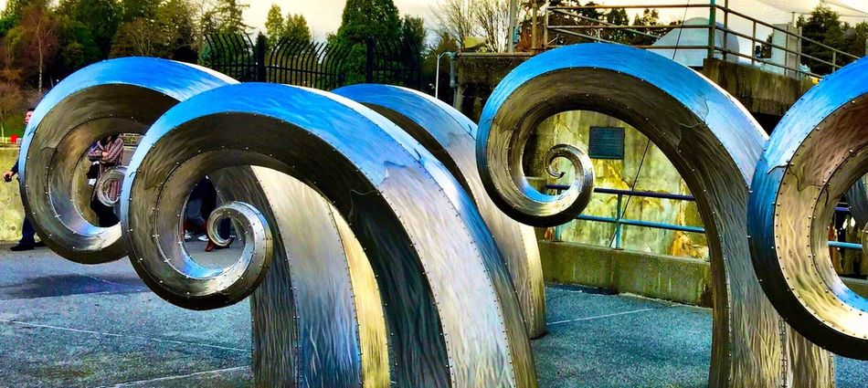 Theartofiphoneography Salmon Waves By Paul Sorey Public Art Seattle
