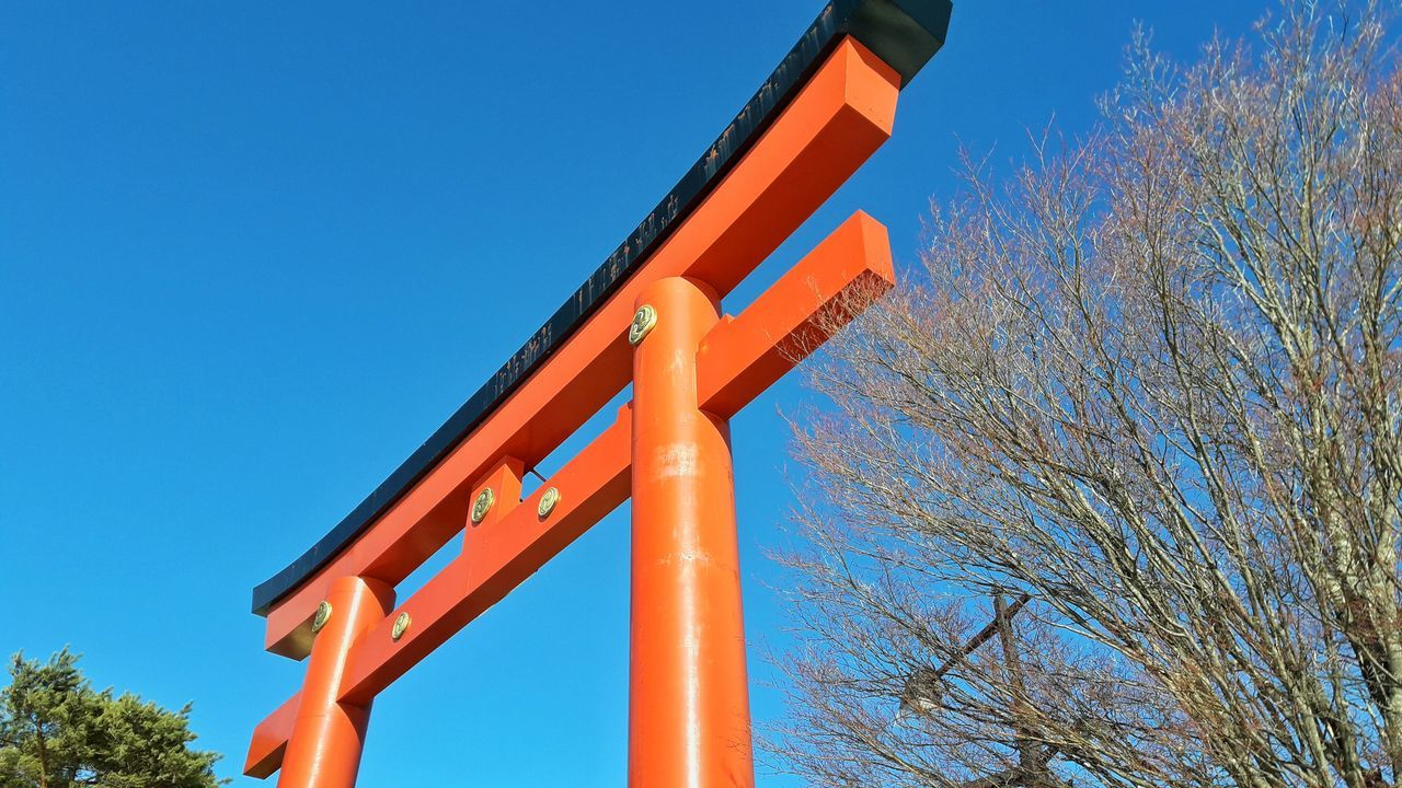 Torii gate Blue Sky Outdoors Clear Sky No People Japan Relegion Summer