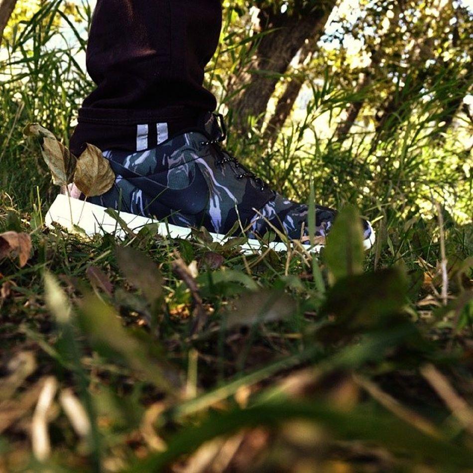 Repost of an old photo. Nike Roshe Black Tiger Camo. Nikesportswear Nike