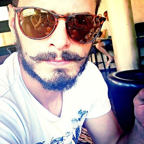Mine. Boyfriend Frenchmustache Beard Glasses Sunglasses Love Whyyoumad Happy 80smaybe90s Coffee Loveofmylife
