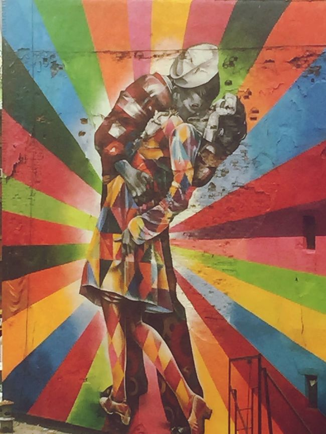 New York Urban Art Sailor 1945 Kiss