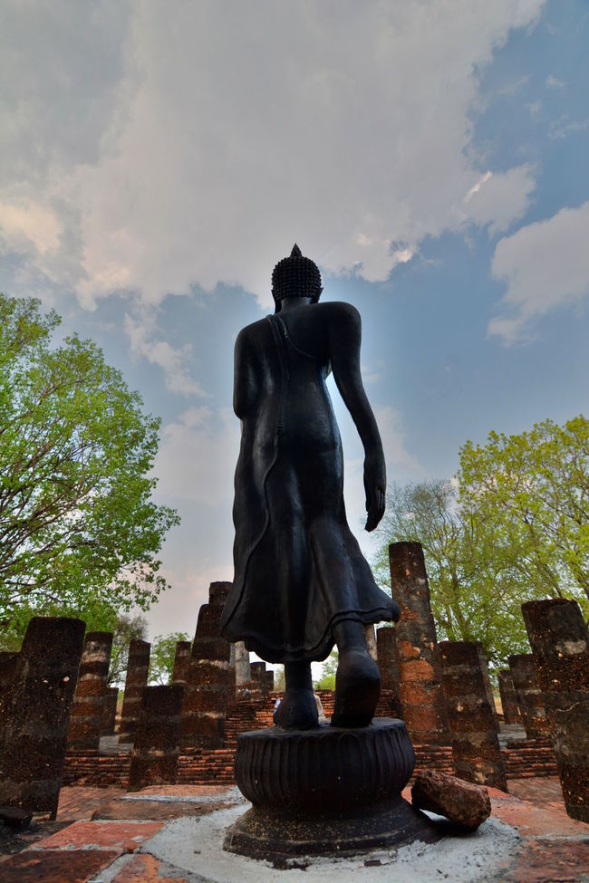Buddha walking statue. Sukhothai historical park Art Art And Craft ASIA Buddha Buddhism Buddhist Temple EyeEm Thailand Famous Place History Monument Old Town Outdoors Pedestal Religion Sculpture Statue Sukhothai Sukhothaihistoricalpark Thai Thailand The Past Travel Destinations