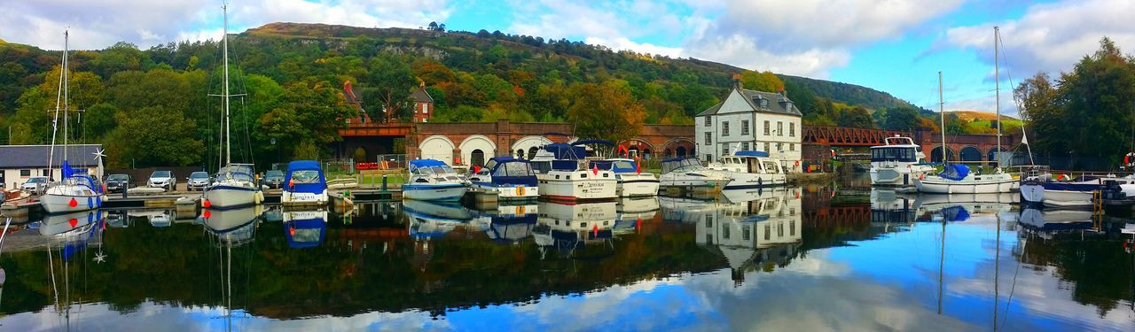 Bowling Bowling Basin Bowling Harbour Cloud - Sky Day Harbor Lake Mode Of Transport Moored Nature Nautical Vessel No People Outdoors Reflection Reflection_collection Reflections In The Water Scenery Scenery_collection Scotland Scotland 💕 Scotlandsbeauty Sky Transportation Tree Water