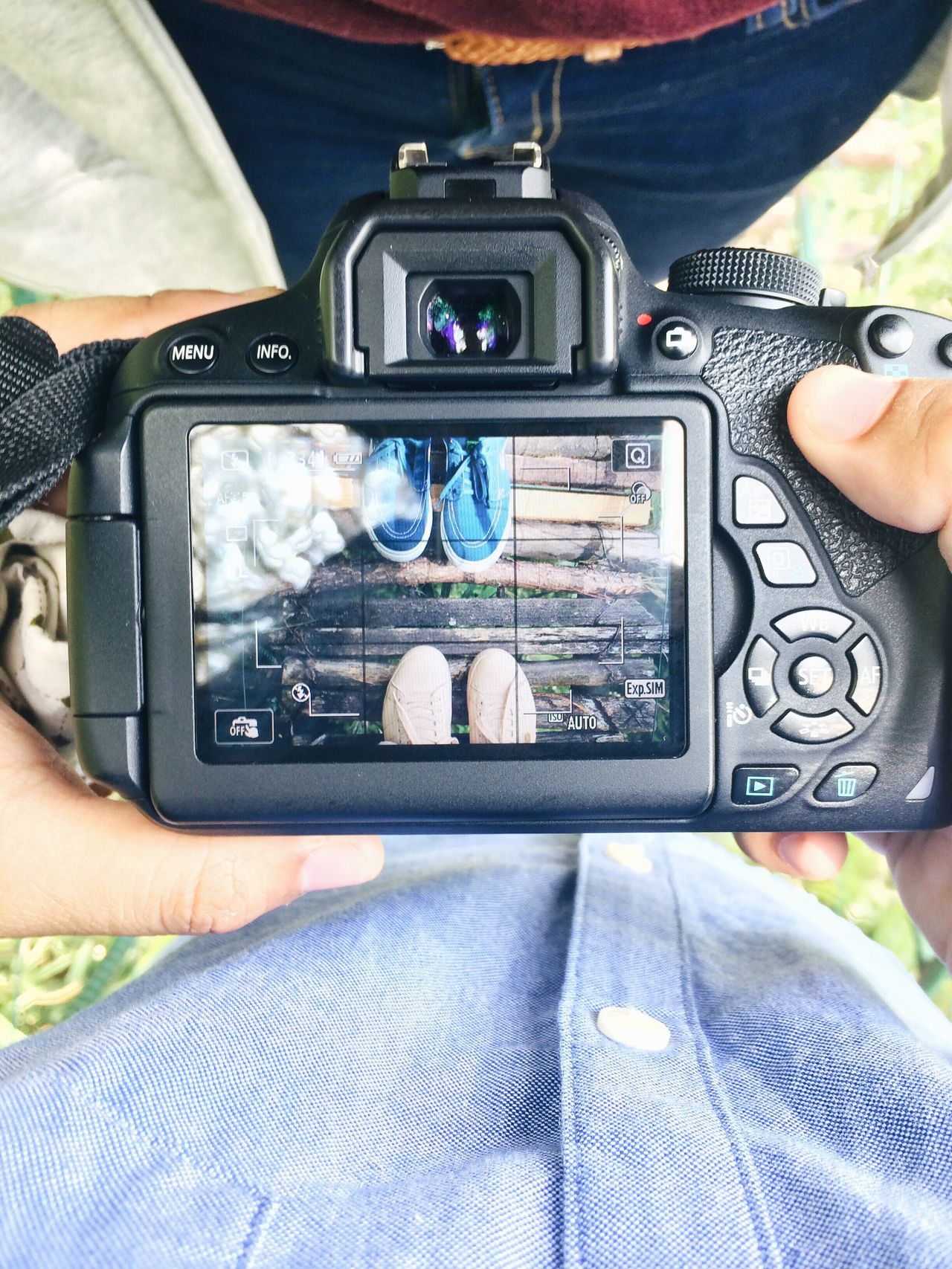 Eyeem Philippines Shoes Sneakers Of EyeEm Sneakers Photography Themes Photographing Human Body Part Technology Device Screen Two People Camera - Photographic Equipment Close-up Men Women Adults Only Adult Human Arm People Human Hand Day Digital Viewfinder Outdoors