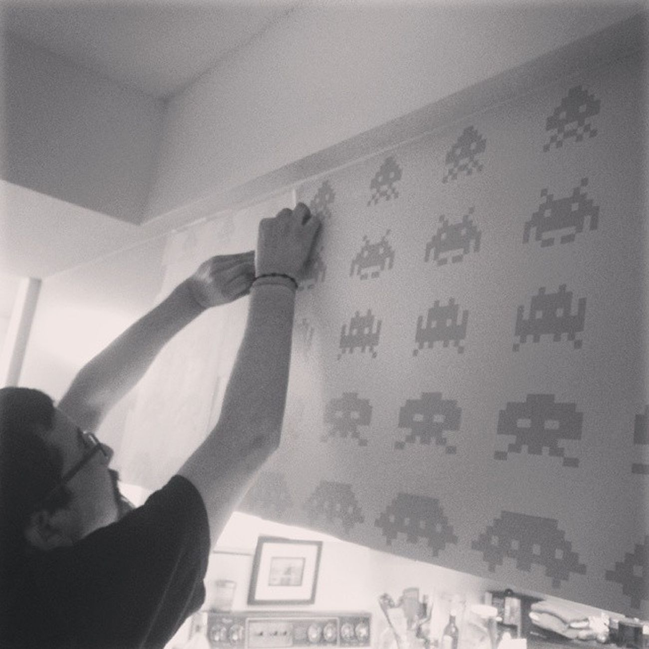 Space Invaders Vinyl latest edition to the pad. Spaceinvaders Decals