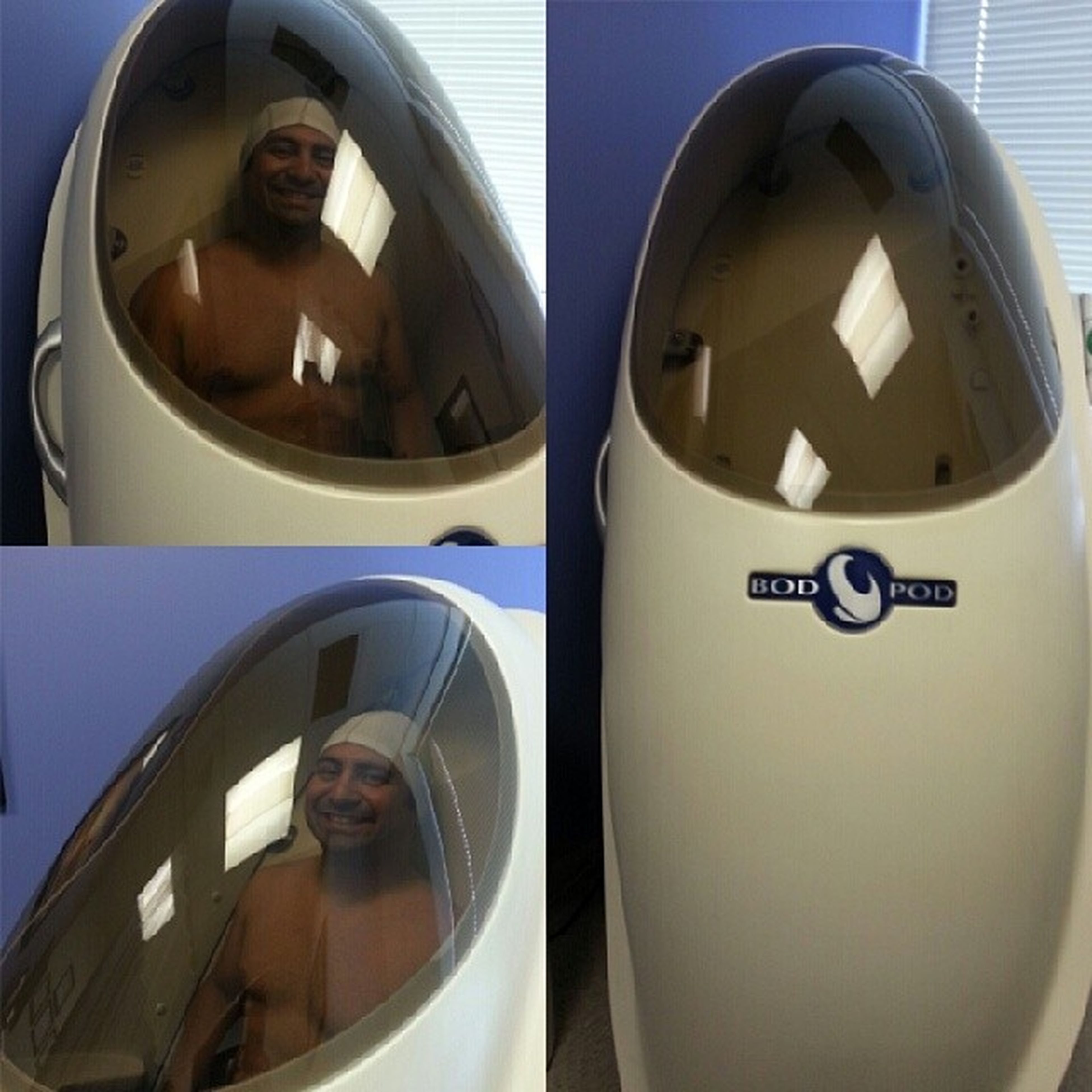 Spacetraining ? No, in a BOD  Pod getting Bodyfat measurements! They said I was too chicken to do it! Now I know what to work on! Just so happens I've been going over the 4hourbody again by timferris seanknows health