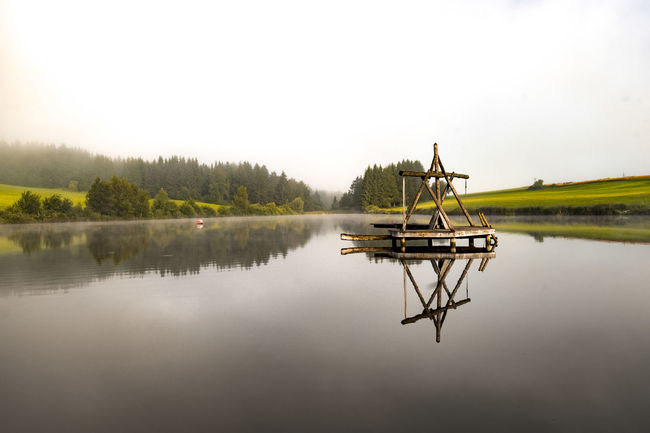 After a Rainy day and bevor a hot Sunny day..the twilight zone Beautiful Nature Beauty In Nature Foggy Morning Landscape Light And Shadow Morning Light Reflection See Silent Twilight Water