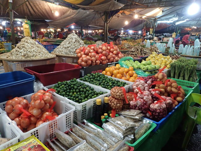 Kota Kinabalu Arrangement Food Freshness Fruit Malaysia Market Market Stall Night Market In Sabah Vegetable