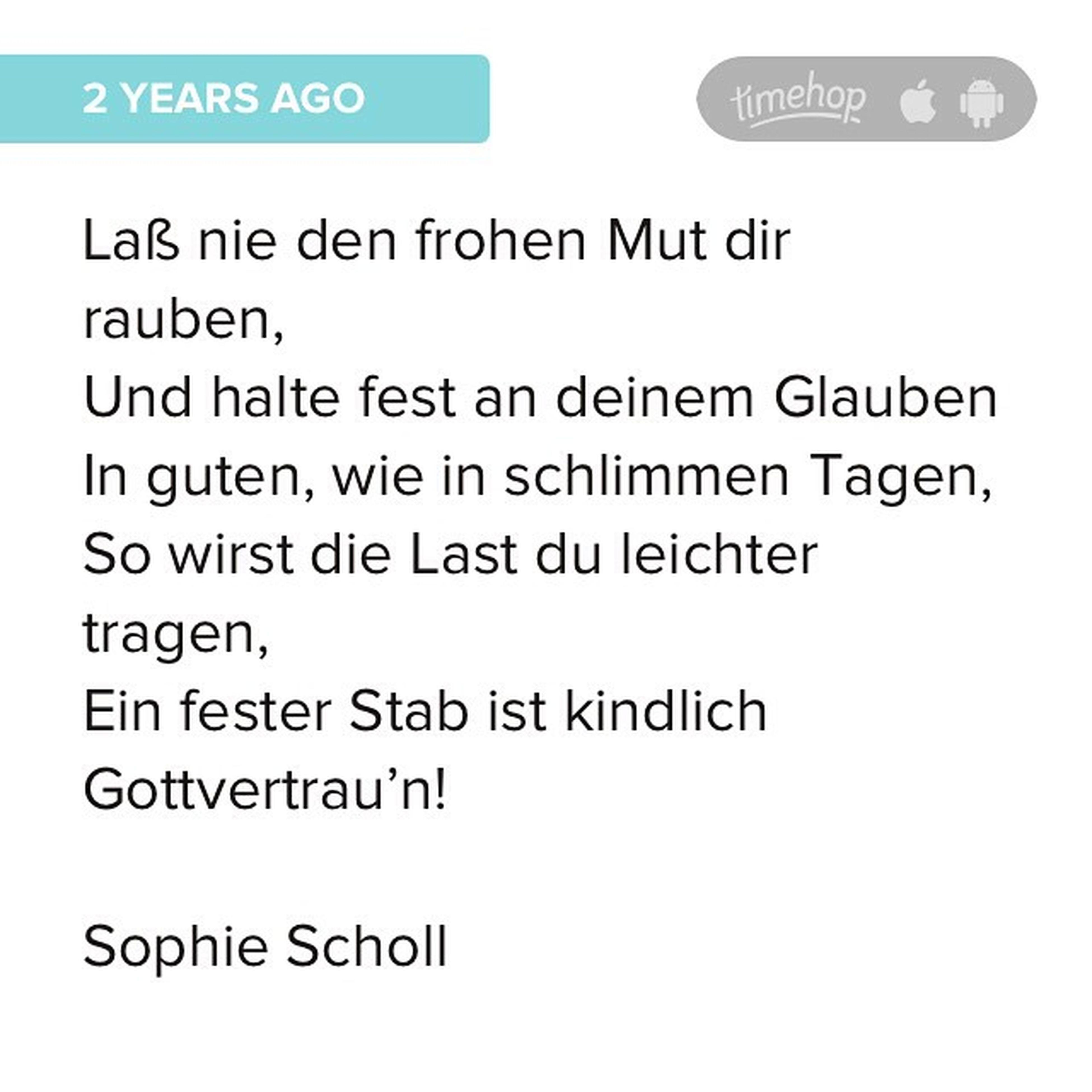 Scholl Sophiescholl Timehop